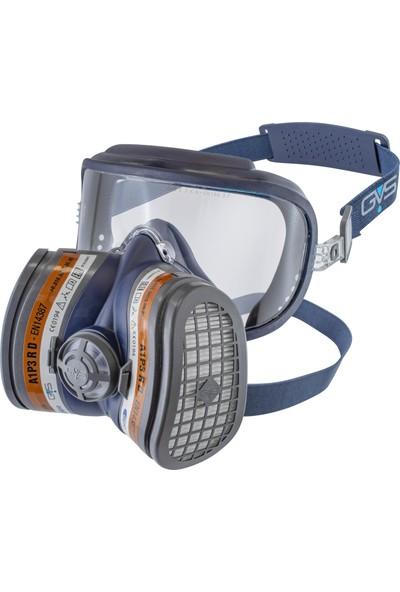 GVS Elipse İntegra A1-P3 Kombine Yarım Yüz Gaz Maskesi+ 1 Çift A1-P3 Gaz Filtresi