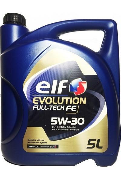 Elf Evolution Fulltech FE 5W-30 - 5 Litre DPFli Motor Yağı (Üretim Yılı: 2020)