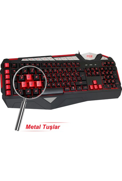 INCA LAPETOS IKG-447 SİLENT SOFTWARE GAMING KEYBOARD (SESSİZ TUŞ / MAKROLU)