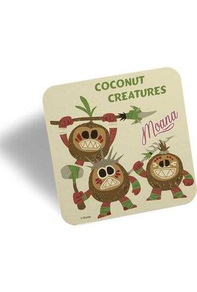 Moana Coconut Creatures Kupa Ve Bardak Altlığı