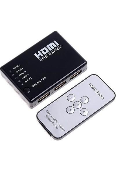 Sline 5 Port Hdmı Switch Kumandalı 3D Uyumlu