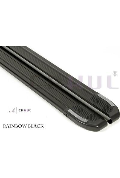 Erkul Peugeot Bipper 2008 üzeri Yan Basamak Rainbow Siyah