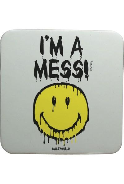 Smiley Express I'm A Mess Kupa Ve Bardak Altlığı