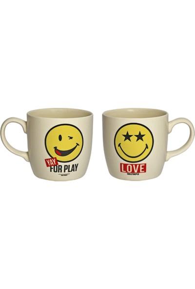 Smiley Love Kupa Ve Bardak Altlığı