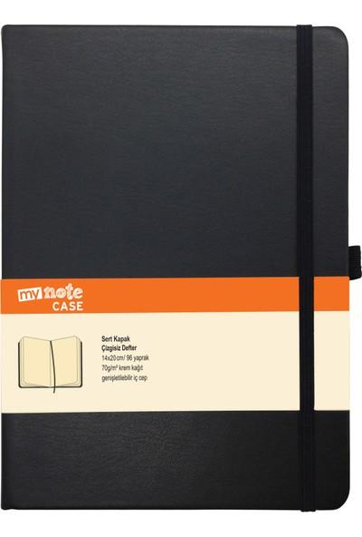 Mynote Case Extra 14X20 Defter 96 Yaprak Düz Siyah