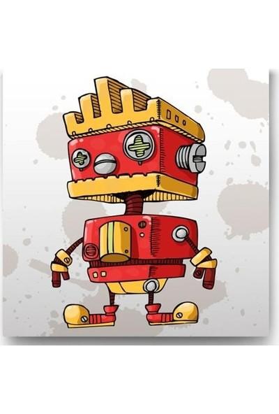 Tablo Kanvas İtfaiye Robot Tablo