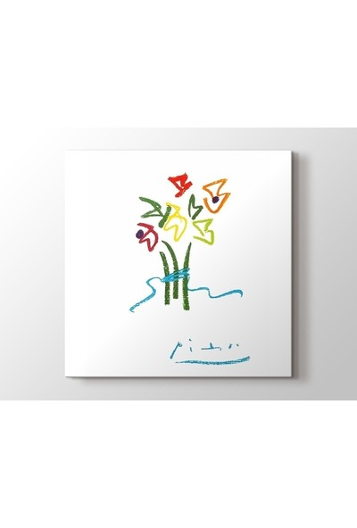 Tablo Kanvas Pablo Picasso - Evening Flowers Tablo