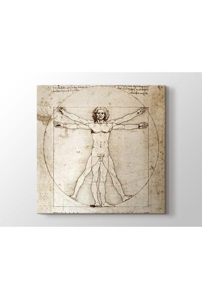 Tablo Kanvas Leonardo Da Vinci - The Vitruvian Man 1498 Tablo