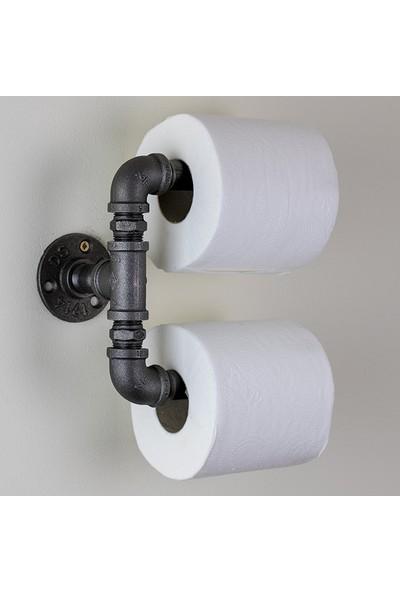 Dekorle Endüstriyel Borudan İkili Tuvalet Kağıdı Tutacağı - DA01103