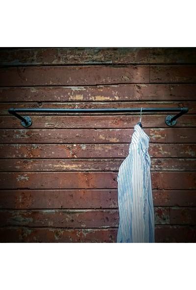 Dekorle Endüstriyel Borudan Kullanışlı Kıyafet Askılığı - DA01112