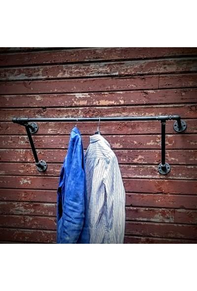 Dekorle Endüstriyel Borudan Çift Ayaklı Kıyafet Askılığı - DA01113