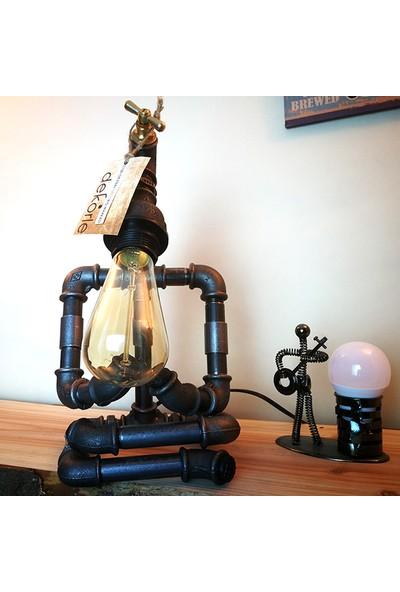 Dekorle Meditasyon Yapan Model Masa Lambası - DL01111