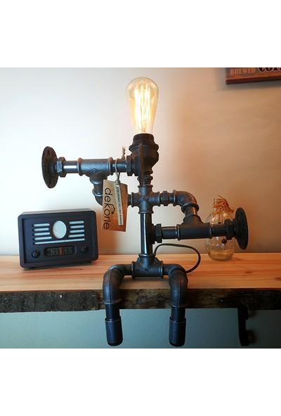 Dekorle Dumbell Kaldıran Adam Model Masa Lambası - DL01114