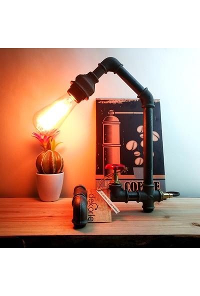 Dekorle Vanalı Standart Model Masa Lambası - DL01118
