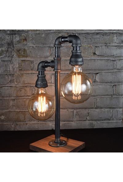 Dekorle İkili Sokak Lambası Modeli Masa Lambası - DL01164