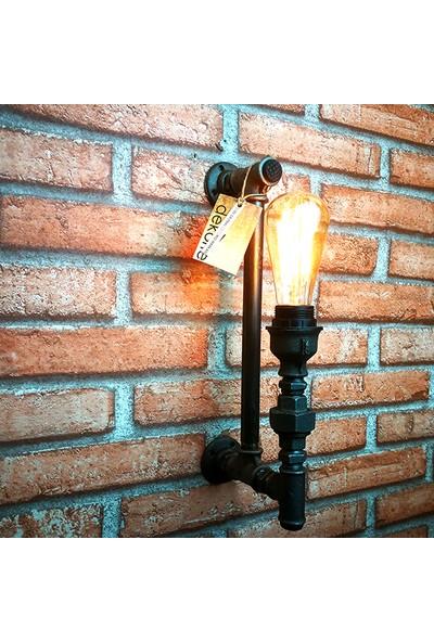 Dekorle Tek Ampullü Özel Tasarım Duvar Lambası - DLDL01104
