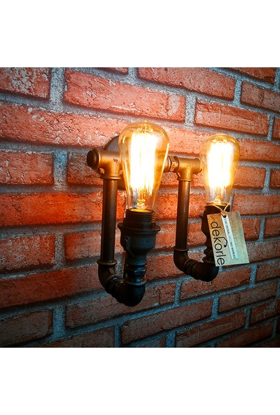 Dekorle Yukarı Yönlü Çift Ampullü Duvar Lambası - DLDL01105