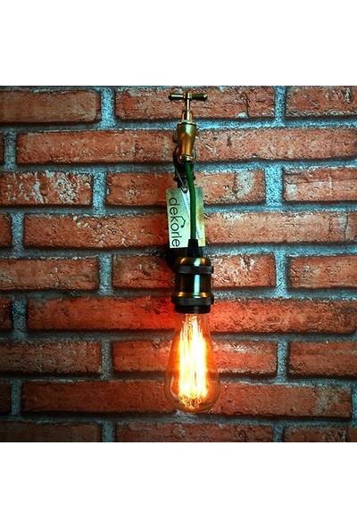 Dekorle Musluktan Akan Ampul Modeli Duvar Lambası - DLDL01109