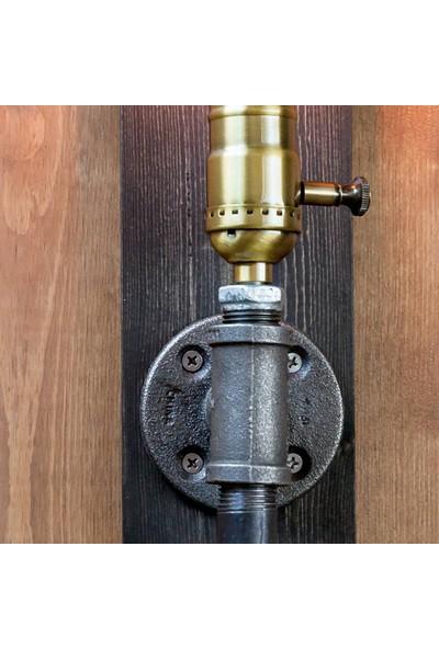 Dekorle Ahşaplı Tekli Rustik Duvar Lambası - DLDL01117