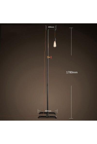 Dekorle Vanalı Sarkıt Model Dekoratif Endüstriyel Boru Lambader - DLLD01125