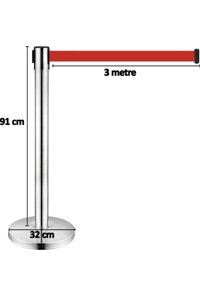 Torexis 91 cm Şerit Yönlendirme Bariyeri