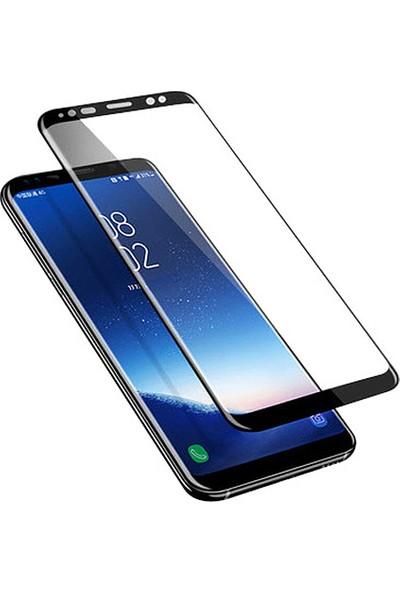 Case 4U Samsung Galaxy S9 Plus Tam Kaplayan Temperli Cam Ekran Koruyucu - Siyah