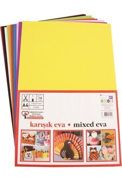Eva 20x30 cm 2 mm 10 Renk Karışık