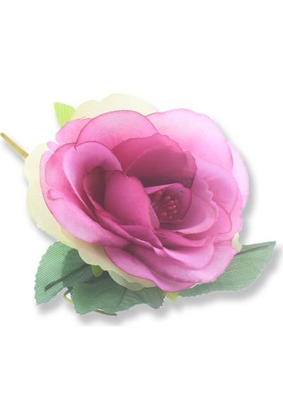 Mutlu Adım 4 Adet Asetat Kutuda Kumaş Çiçek Gül