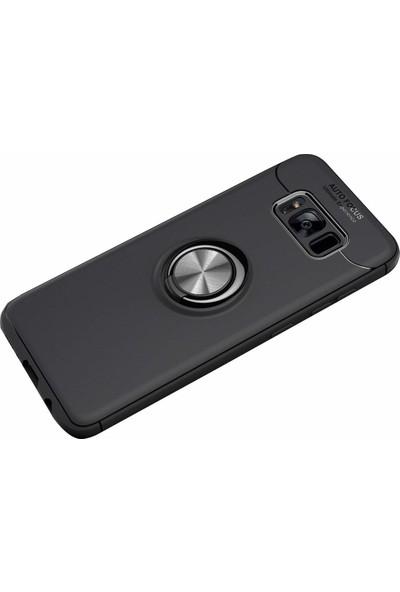 Case 4U Samsung Galaxy S8 Kılıf Yüzüklü Darbeye Dayanıklı (Mıknatıslı Araç Tutucu Uyumlu) Siyah