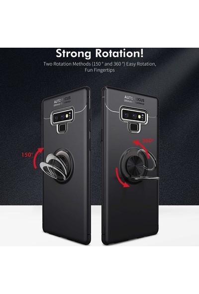 Case 4U Samsung Galaxy Note 9 Kılıf Yüzüklü Darbeye Dayanıklı (Mıknatıslı Araç Tutucu Uyumlu) Lacivert