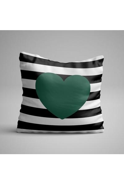 Kırlenthome Kalp Kırlent Kılıfı Zümrüt Yeşili