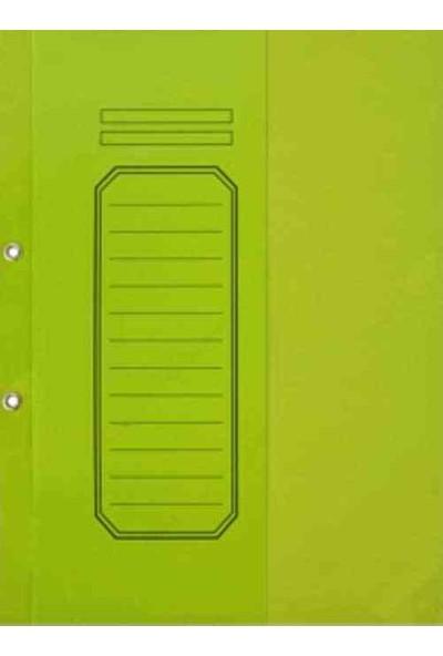 Alemdar Yarım Kapaklı Lüks Telli Dosya Yeşil 25Li Paket