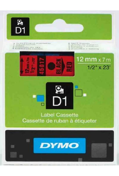 Dymo D1 Yedek Şerit 12Mmx7Mt Kırmızı/Siyah