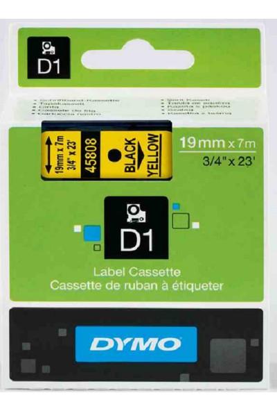 Dymo D1 Yedek Şerit 19Mmx7Mt Sarı/Siyah