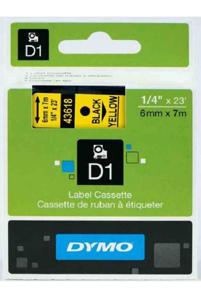 Dymo D1 Yedek Şerit 6Mmx7Mt Sarı/Siyah
