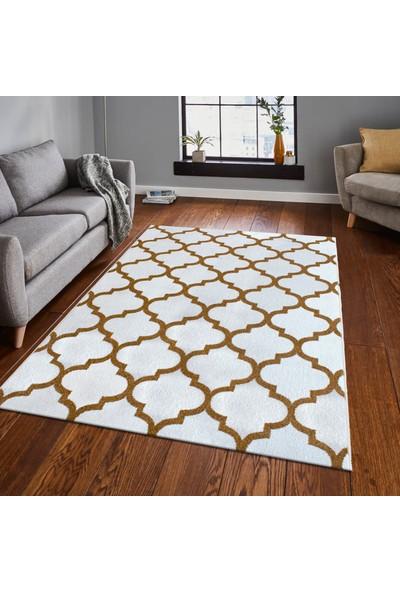 Saray Halı Luna OZD32 Beyaz / Gold Modern Halı