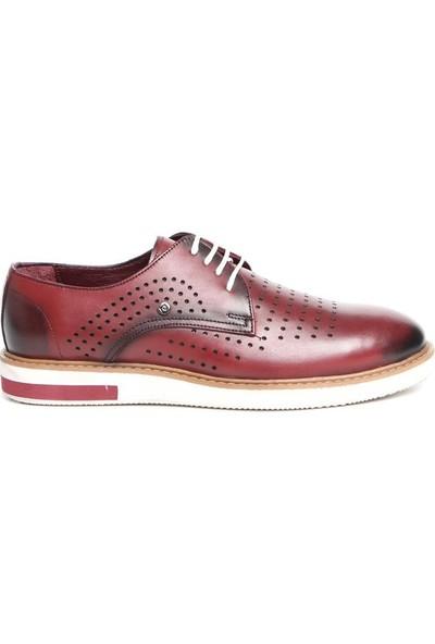 Pierre Cardin Erkek Oxford Ayakkabı Bordo P63115D