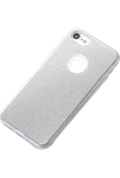 Fshang Apple iPhone 7 - 8 Gümüş Simli Kılıf