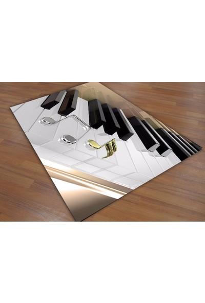 Consept Home 0480 Piano Tuşları Müzik Temalı 3D Çocuk Odası Halısı 100x150