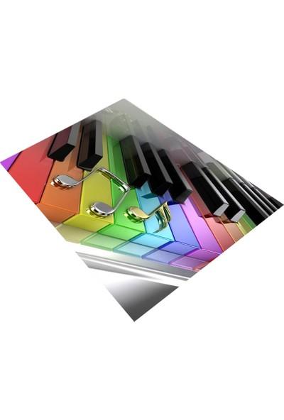 Consept Home 1170 Renkli Piano Tuşları 3D Çocuk Odası Halısı 100x150