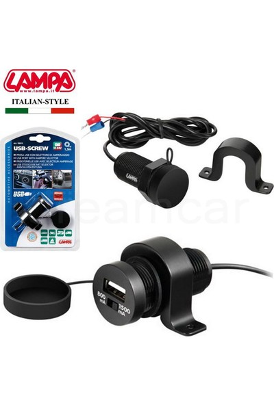 Lampa USB-Screw USB Şarj Soketi İzoleli 39013