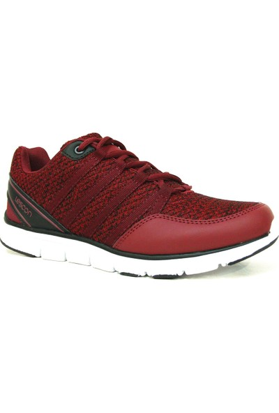 Lescon L5534 Bordo Bağcıklı Flex Erkek Spor Ayakkabı