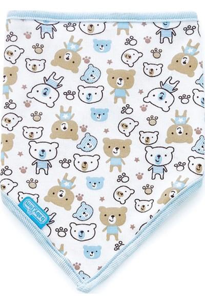 Baby Jem Fular Üçgen Önlük Mavi Ayıcık