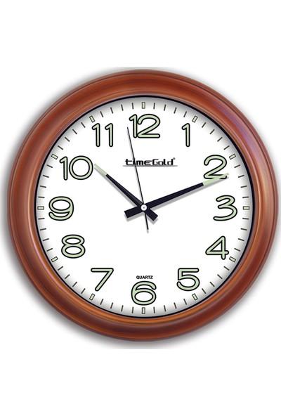 Time Gold Fosforlu Duvar Saati-35cm 151FS