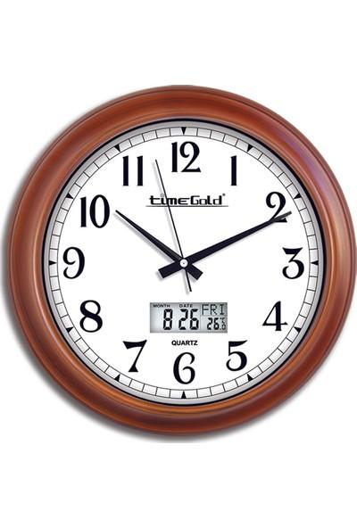 Time Gold Ahşap Görünümlü Duvar Saati-35cm TG151TR