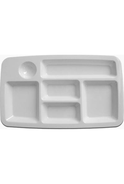 Atlas Yemekhane Tabldot Self Servis Tabağı Beyaz 12 Adet 29x18 Cm