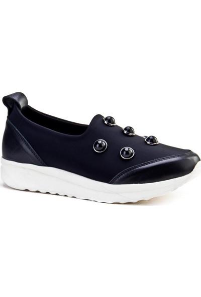 Cabani Light Taban Aksesuarlı Sneaker Kadın Ayakkabı Siyah Deri