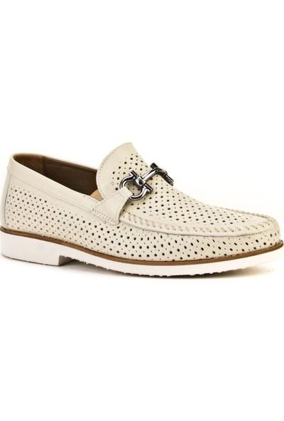 Cabani Loafer Günlük Erkek Ayakkabı Bej Napa Deri