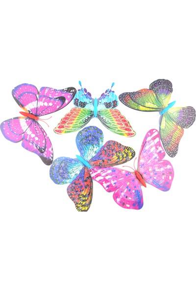 Buffer Dekoratif Saksı Kelebekleri Büyük Boy 5 Adet