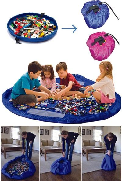 Buffer Taşınabilir Büyük Oyuncak Hurcu - Mavi